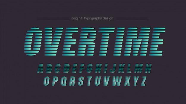 Tipografia abstrata de linhas verdes
