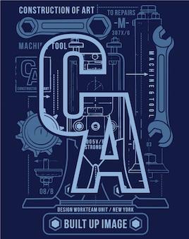 Tipografia arte design, ilustração gráfica vetorial