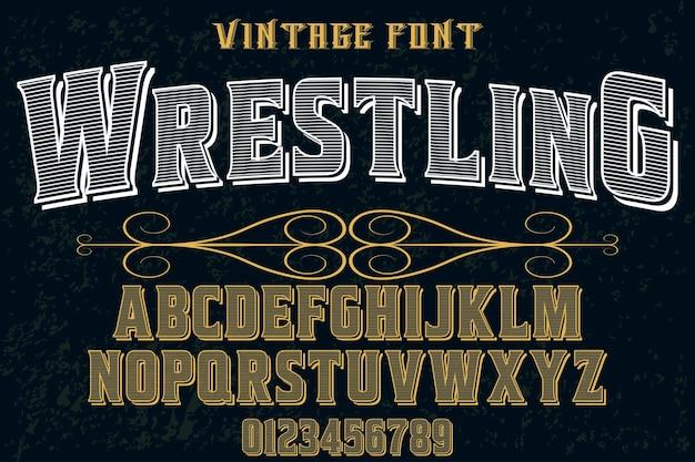 Tipografia artesanal projeto de fonte wrestling