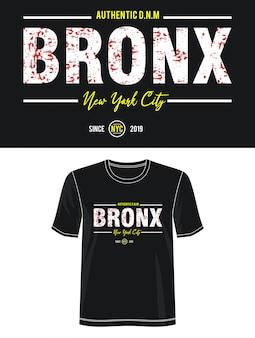 Tipografia bronx para impressão camiseta