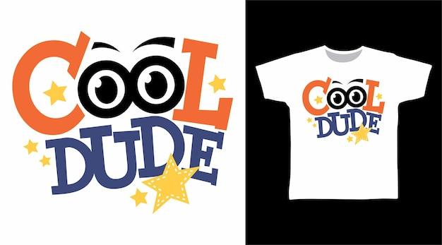 Tipografia cara legal com conceito de camiseta estrela