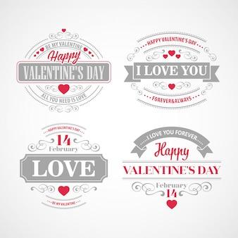 Tipografia cartões de dia dos namorados