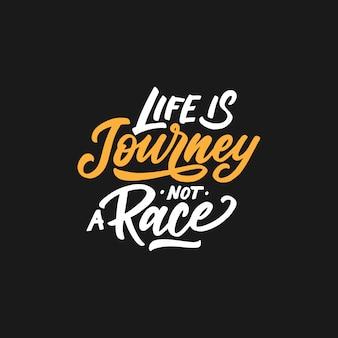 Tipografia citações motivacionais e inspiradoras sobre a vida