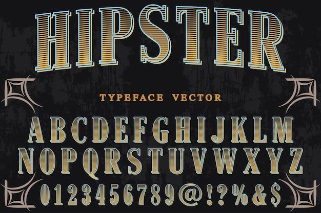 Tipografia com a palavra hipster