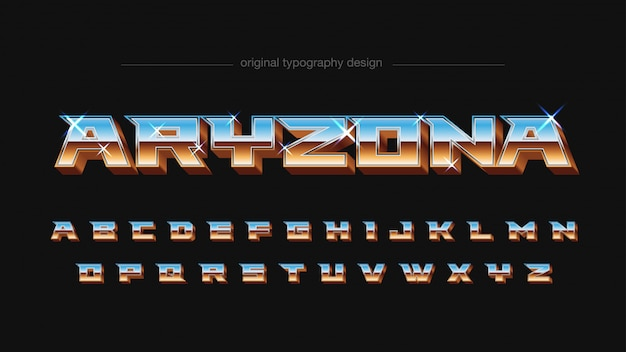 Tipografia cromática de estilo vintage