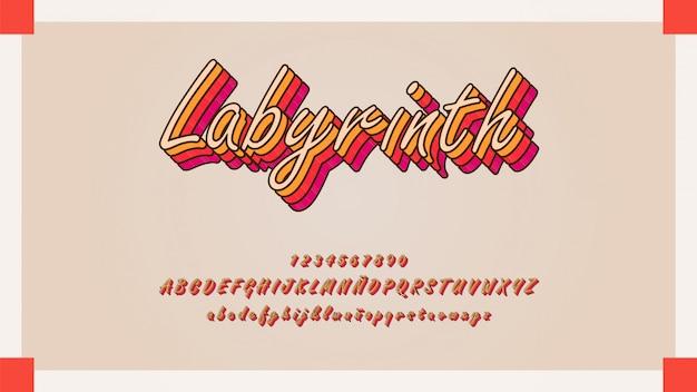 Tipografia cursiva elegante com efeito