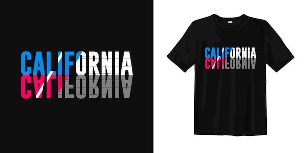 Tipografia da califórnia para impressão camiseta