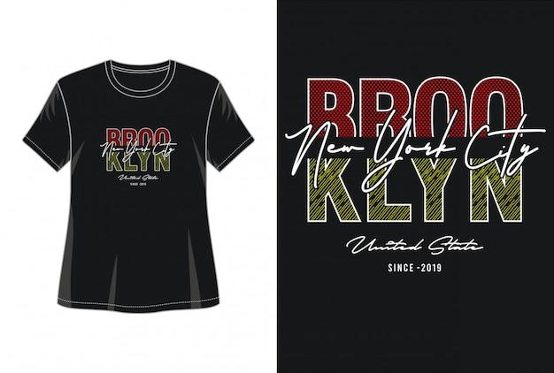 Tipografia da cidade de nova york para imprimir camiseta