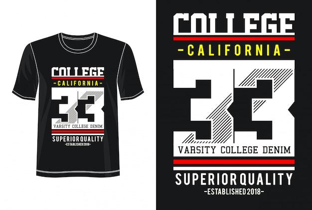 Tipografia da faculdade 33 para impressão camiseta