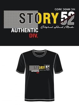 Tipografia da história 52 para imprimir camiseta