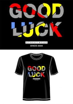 Tipografia de boa sorte