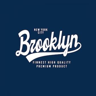 Tipografia de brooklyn para o t-shirt