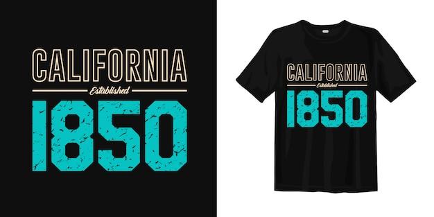 Tipografia de califórnia camiseta