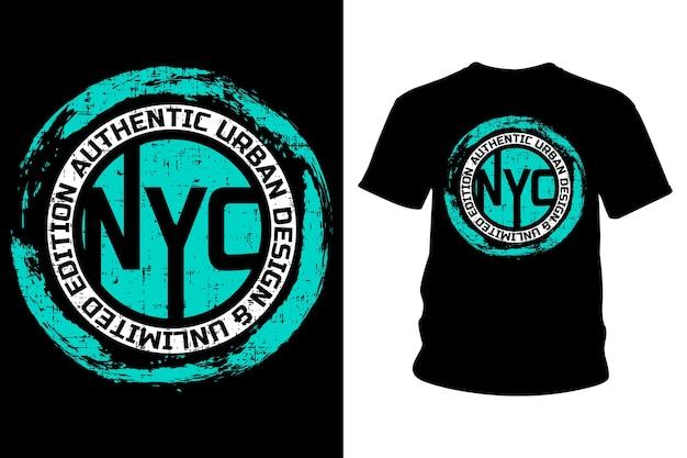 Tipografia de camisetas com texto em nova york