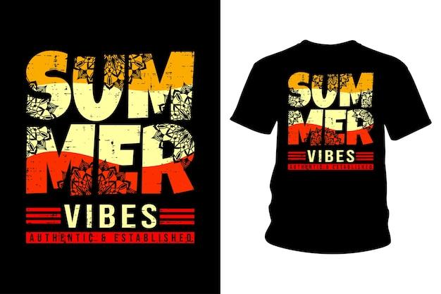 Tipografia de camisetas de vibrações de verão