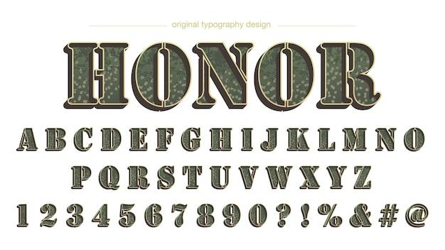 Tipografia de camuflagem do exército 3d