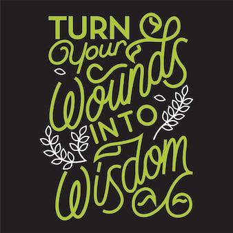 Tipografia de citação de sabedoria de rotulação