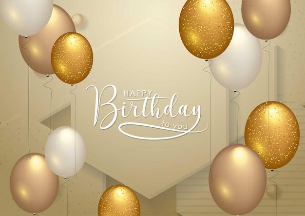 Tipografia de comemoração de feliz aniversário