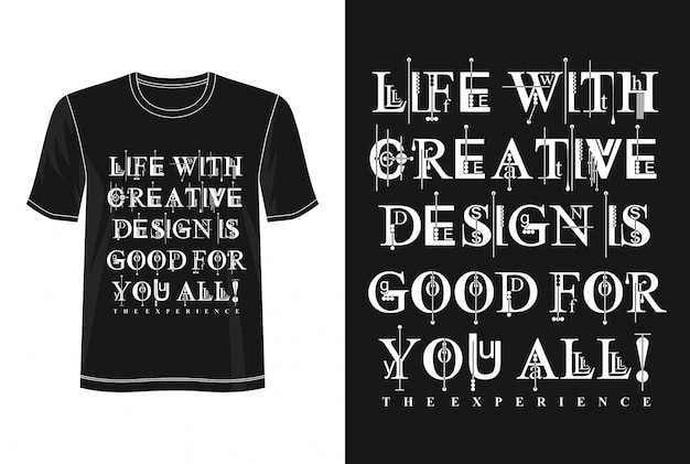Tipografia de design criativo para impressão camiseta