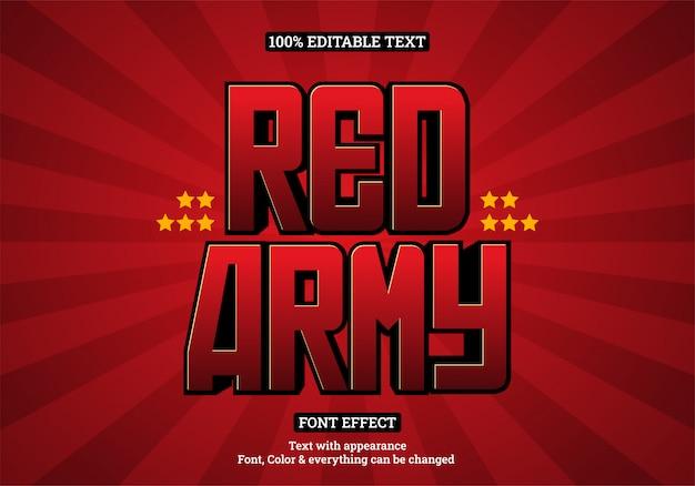 Tipografia de efeito de texto de destaque vermelho