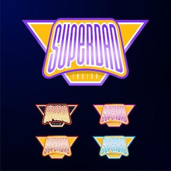 Tipografia de emblema do esporte