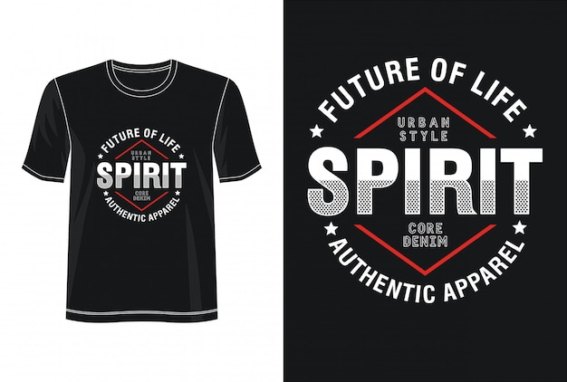 Tipografia de espírito para impressão camiseta