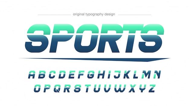 Tipografia de esportes modernos azul verde