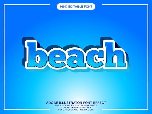 Tipografia de estilo gráfico água illustrator editável