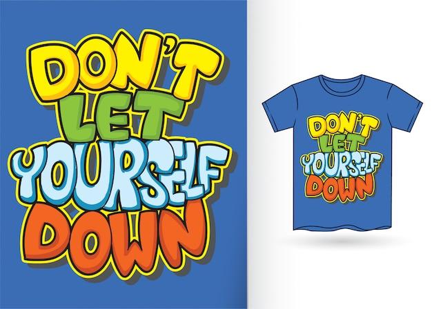 Tipografia de estilo grafite para t-shirt