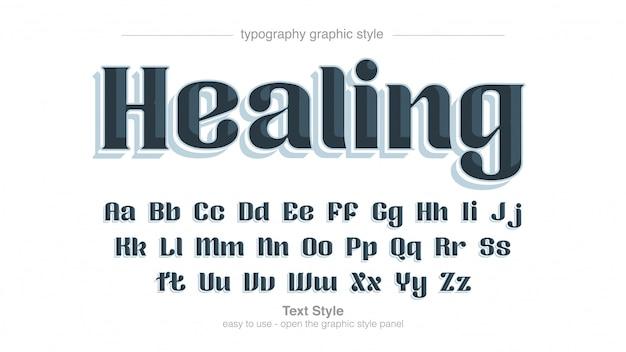Tipografia de exibição decorativa minimalista