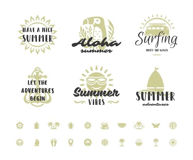 Tipografia de férias de verão citações inspiradas ou design de provérbios