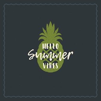Tipografia de férias de verão design inspirador citação para cartaz ou vestuário