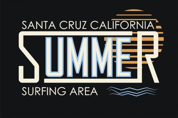 Tipografia de férias de verão