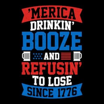 Tipografia de ilustração com tema americano