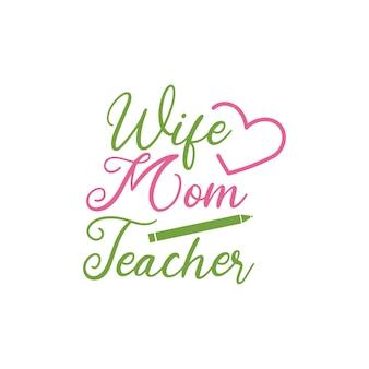 Tipografia de letras de citação do professor