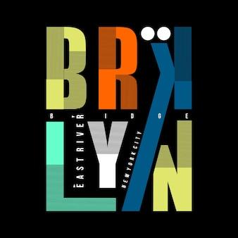 Tipografia de linhas gráficas de brooklyn