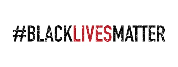 Tipografia de matéria de vidas negras, faixa de protesto sobre os direitos humanos dos negros nos eua.