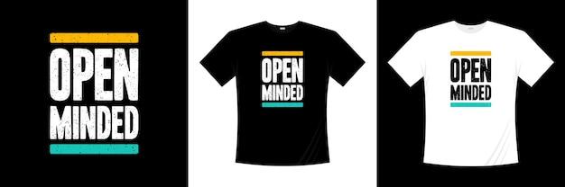 Tipografia de mente aberta
