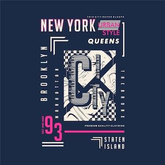 Tipografia de moldura de texto de brooklyn new york city boa para impressão de camiseta