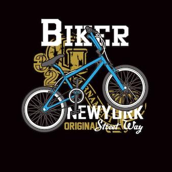 Tipografia de motociclista de rua