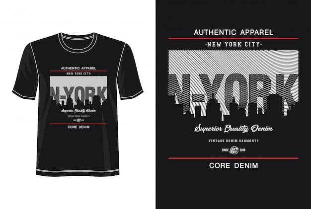 Tipografia de nova york para camiseta