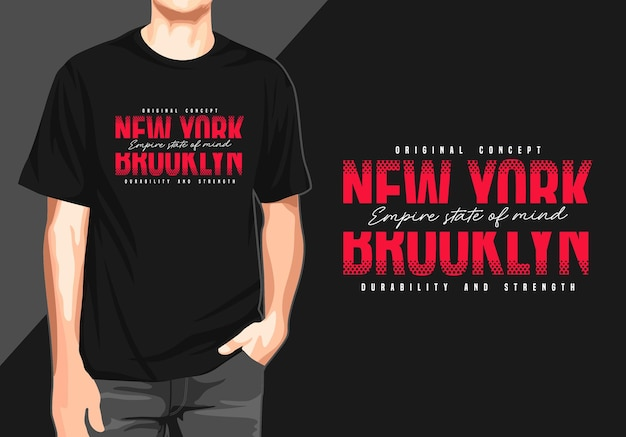 Tipografia de nova york para impressão de camiseta