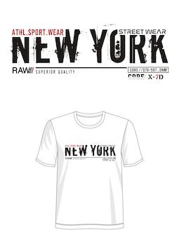Tipografia de nova york para imprimir camiseta