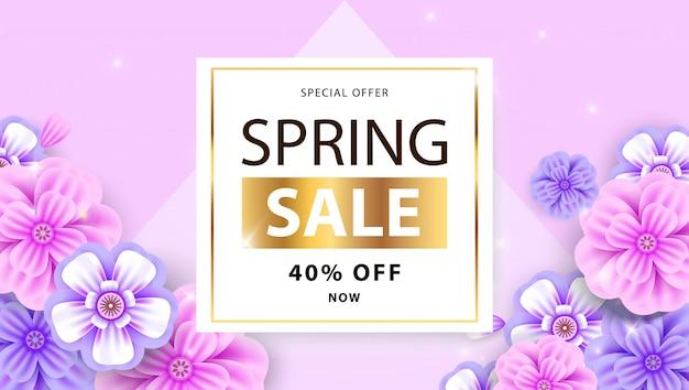 Tipografia de ouro de venda de primavera