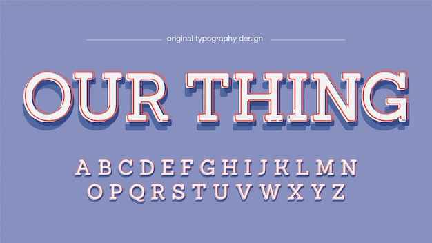 Tipografia de serif laje simples colorido