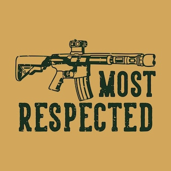 Tipografia de slogan vintage mais respeito pelo design de camisetas