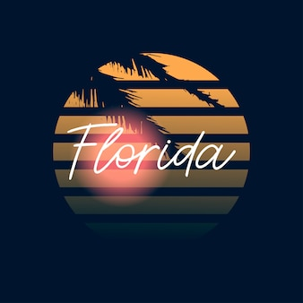 Tipografia design florida