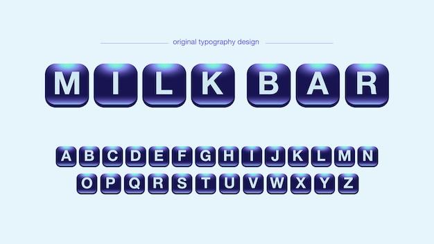 Tipografia do alfabeto de néon brilhante