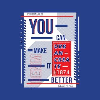 Tipografia do design das palavras camiseta