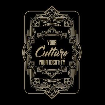 Tipografia do ornamento da cultura